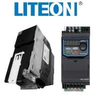 Falownik (+uchwyt DIN) 0,2kW 1-fazowy LiteON EVO600021S0D2E20F miniatura