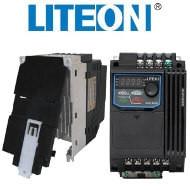 Falownik (+uchwyt DIN) 1,5kW 1-fazowy LiteON EVO600021S1D5E20F miniatura