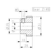 Koło zębate do enkodera LIKA PF4260 miniatura