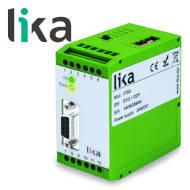Konwerter SSI na sygnał analogowy i RS232/RS485 do enkoderów LIKA IF51 miniatura