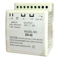 Zasilacz impulsowy na szynę DIN, 24V DC DR-45-24 miniatura
