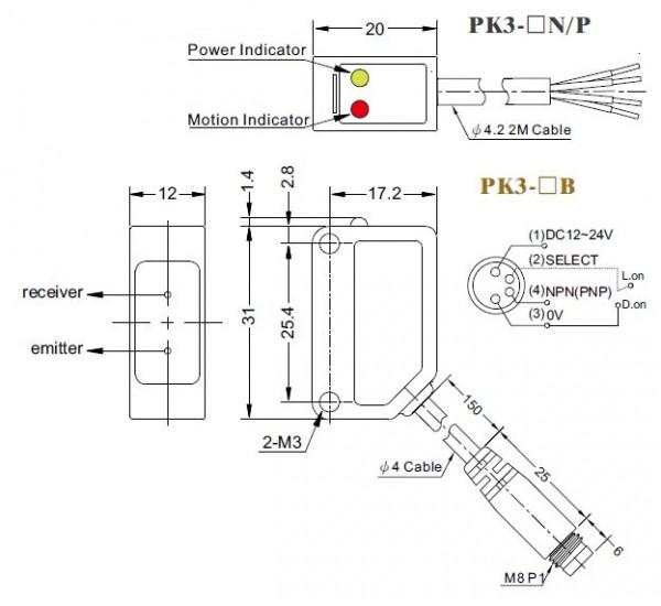 Wymiary - RIKO PK3-V03P