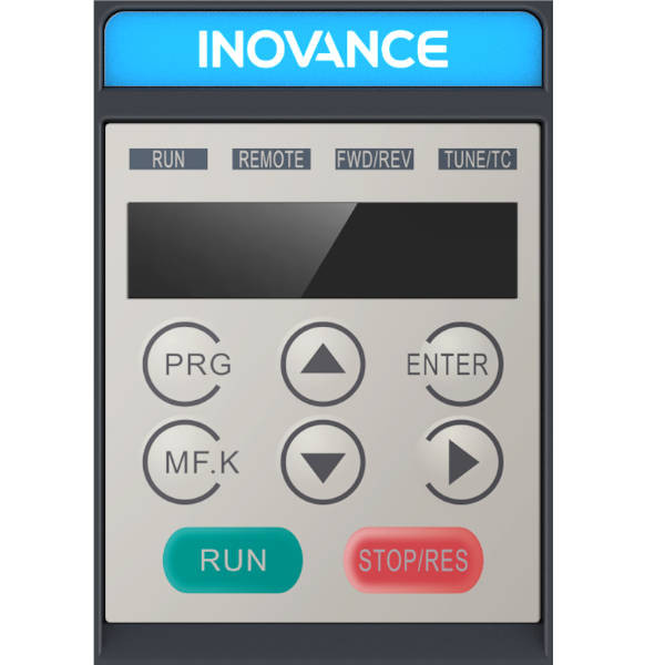 Falownik 0,4kW 1-fazowy INOVANCE MD200S0.4B-INT klawiatura panel kontrolny
