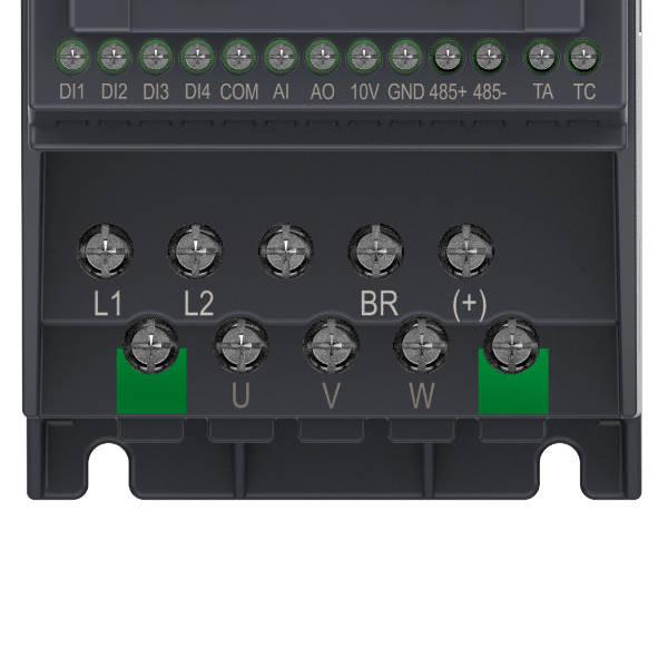 Falownik 0,4kW 1-fazowy INOVANCE MD200S0.4B-INT zaciski