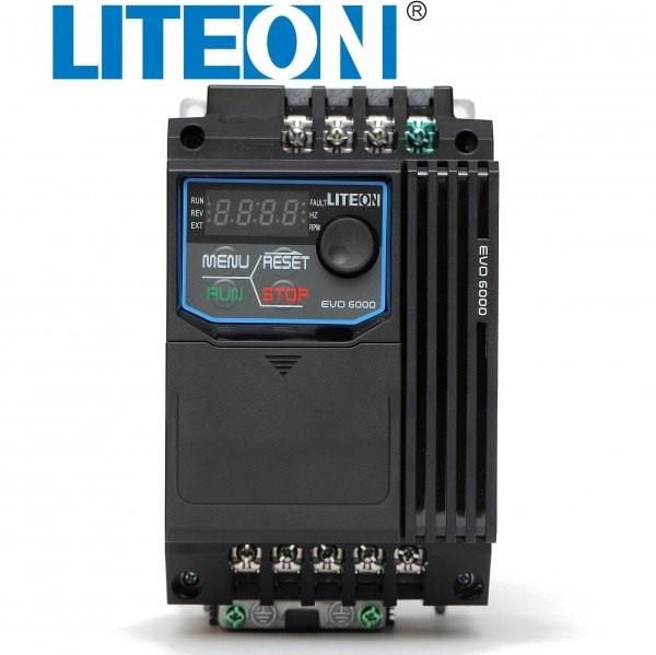 Falownik 1,5kW 1-fazowy LiteON EVO600021S1D5E20F front