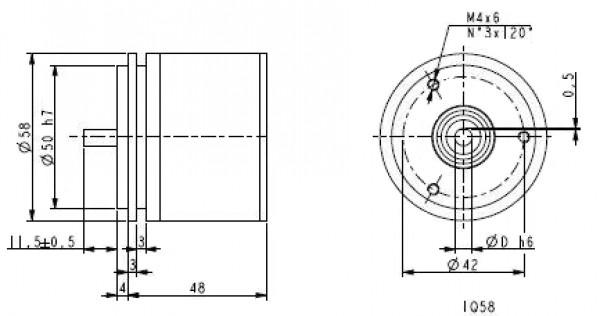 Wymairy - enkoder inkrementalny LIKA IQ58-H-PROG-ZCZ46R