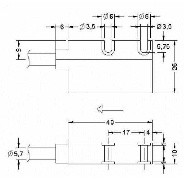 Wymiary - enkoder inkrementalny liniowy LIKA SMK-YC-2-100-I-L2
