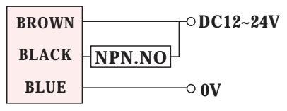 Czujnik indukcyjny RiKO RN04-N - schemat podłączenia