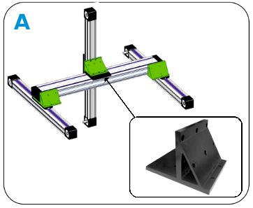uchwyty montażowe do modułów liniowych