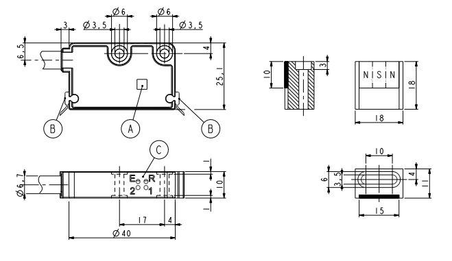 Wymiary - enkoder liniowy LIKA SME54